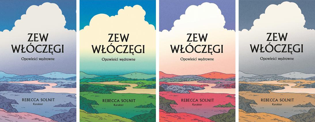 """Okładka książki """"Zew włóczęgi"""" Rebecci Solnit."""