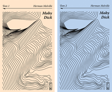 "Okładki dwóch tomów ""Moby Dicka"" Hermana Melville'a"