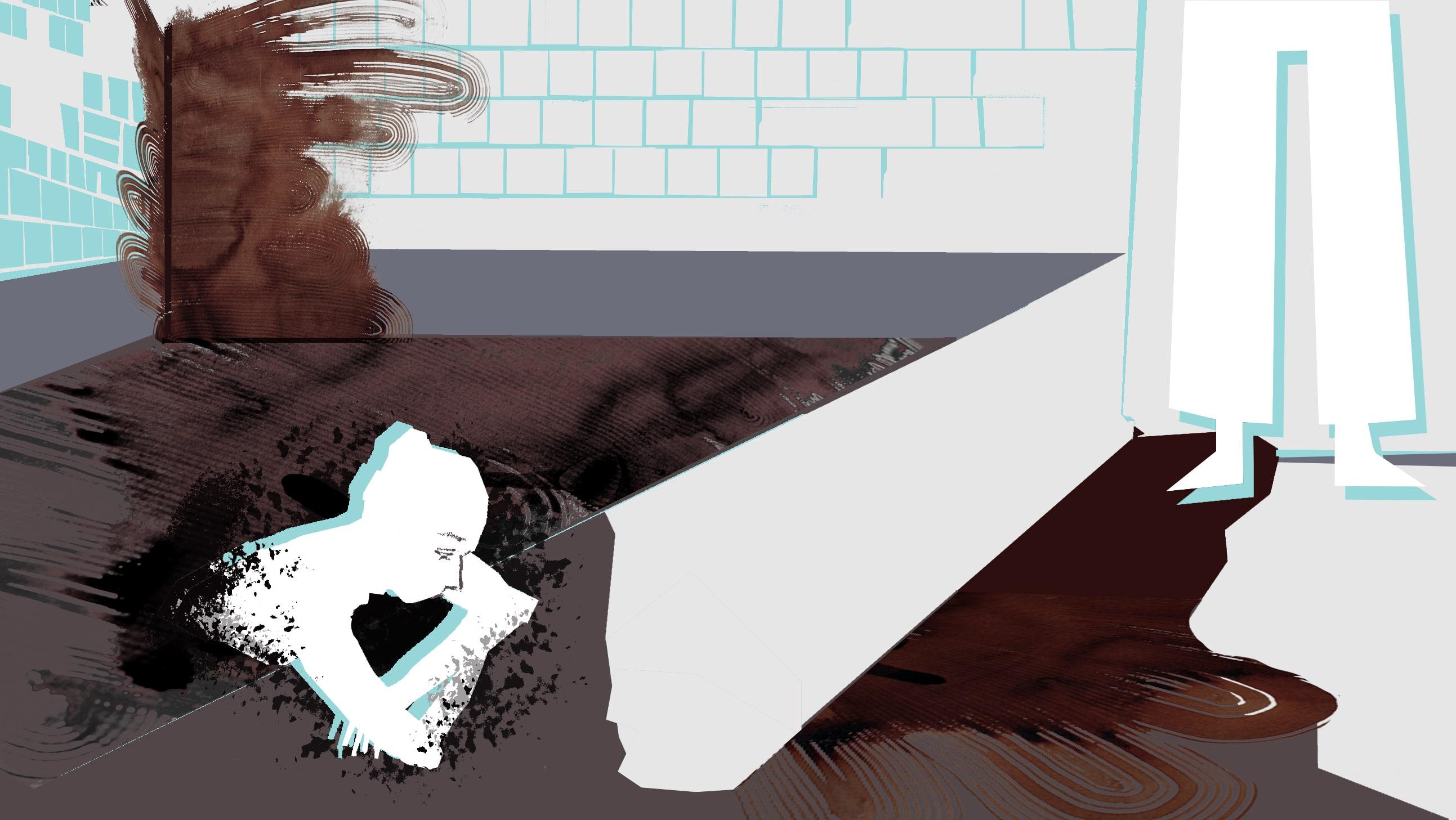 """Ilustracja Aleksandry Ćwikowskiej do recenzji książki """"Zdrój"""" Barbary Klickiej"""
