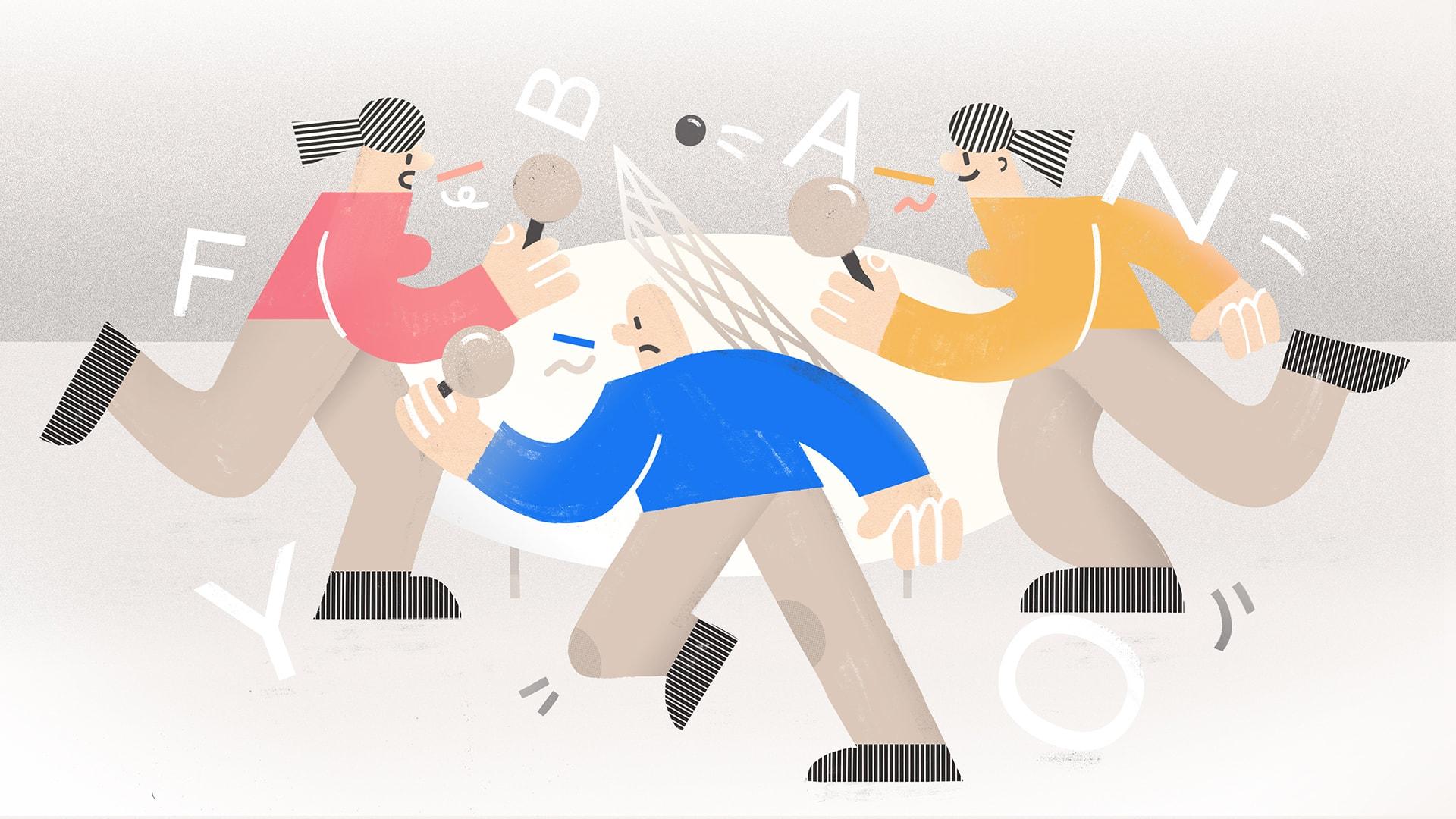 ilustracja weroniki wolskiej do wywiadu z redaktorami portalu cyc gada I mały format