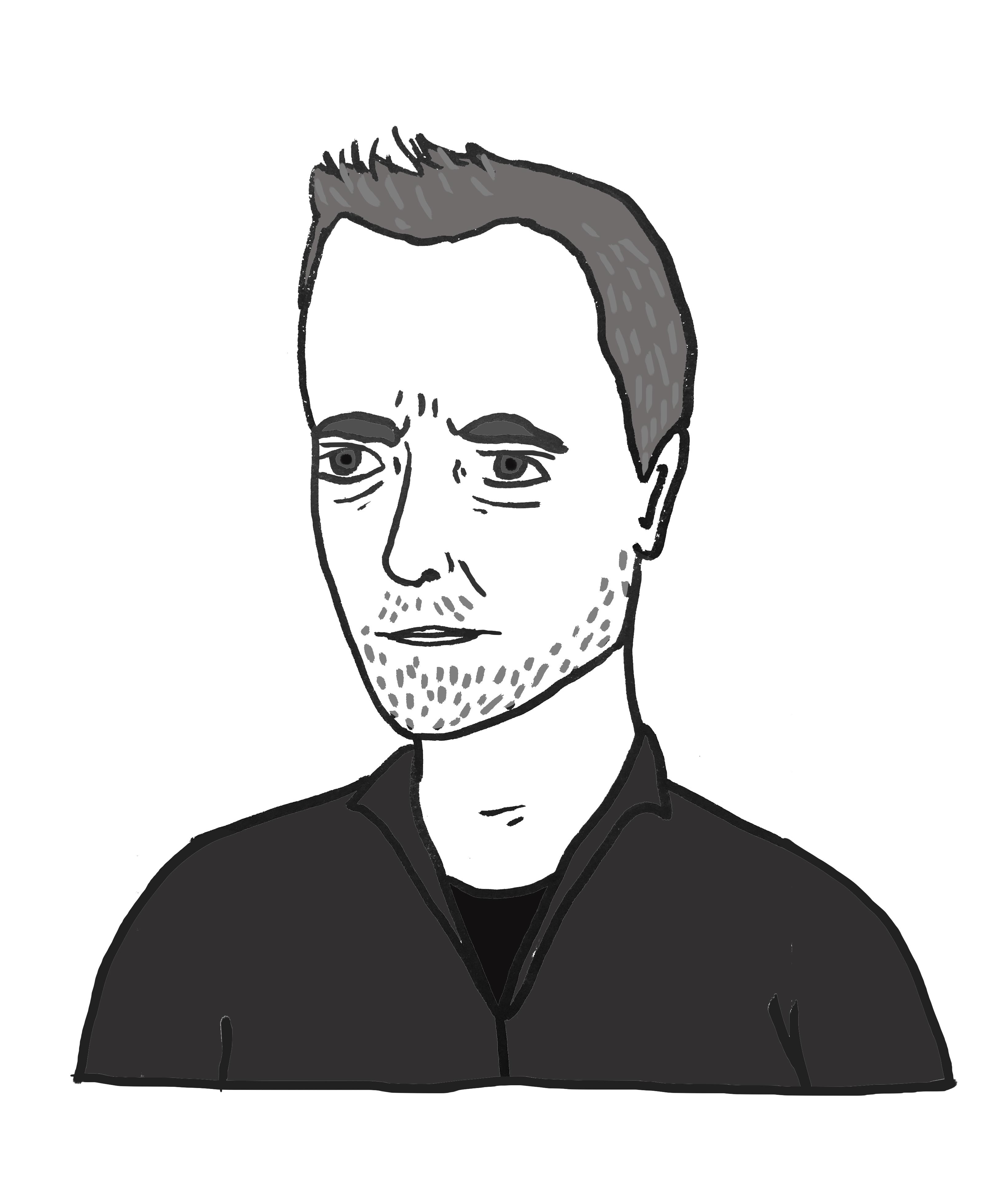 Portret poety Tomasza Różyckiego autorstwa Natalii Przybysz