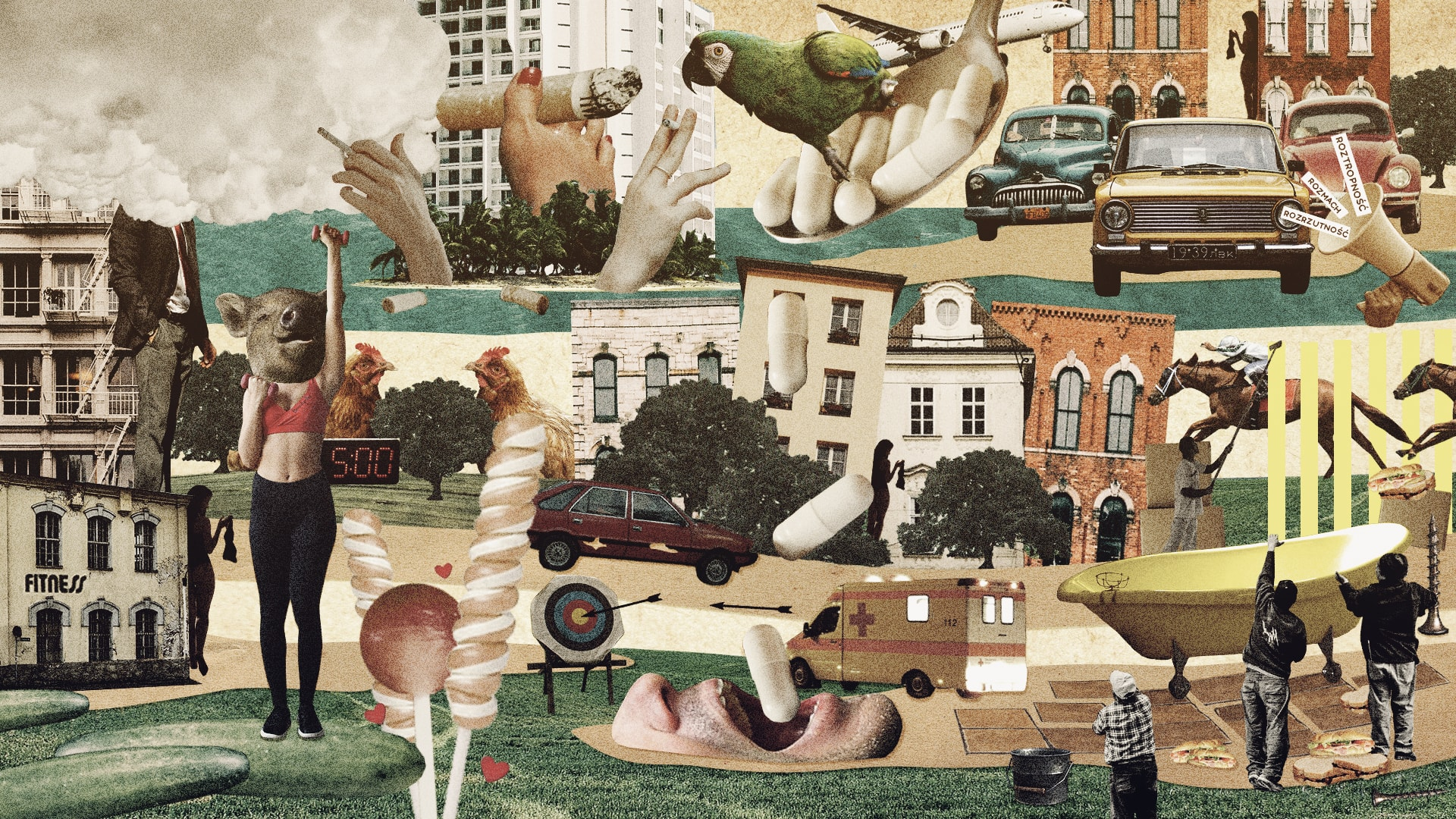 """ilustracja do prozy adama kaczanowskiego ze zbioru """"czego się boją rodzice"""" I mały foramt"""