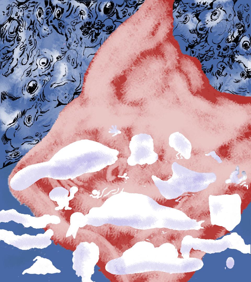ilustracja zuzanny wołejko do tekstu andrzeja szpindlera - mały format